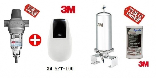 3M SS801全戶式不鏽鋼淨水系統 + 3M SFT-100全戶軟水系統 【本月贈AP817替換濾心+3M反洗淨水系統】【免費專業安裝】【分期0利率】 1